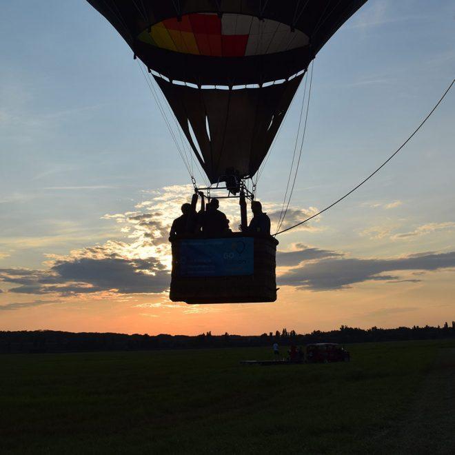Családi hőlégballon repülés