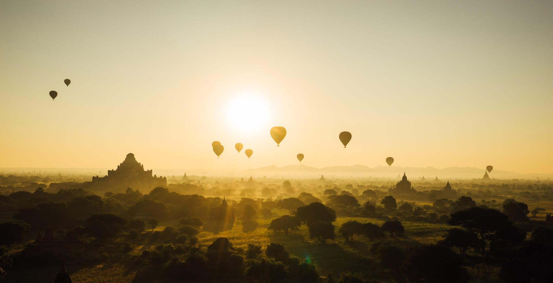 Hőlégballonozás képben