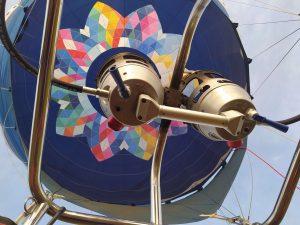Hőlégballon égő