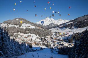 téli hőlégballon fesztivál ausztirában
