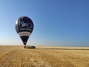 Landolás az I. Győr Balloon Fiesta első repülése után